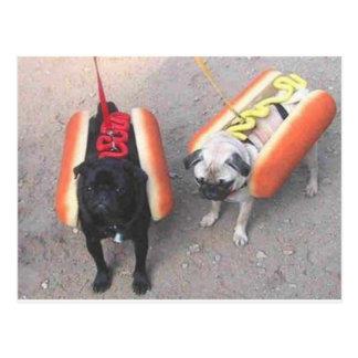 Hot dogs postcard