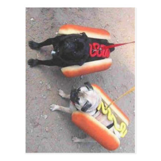 Hot dogs postcard