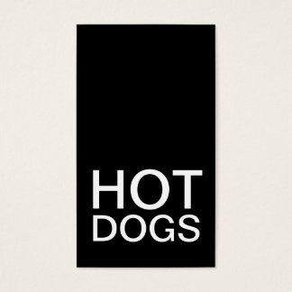 hot dogs punch card