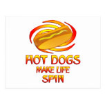 Hot Dogs Spin Postcard