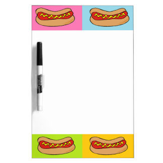 hot dogs tiled design Dry-Erase board