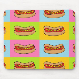 hot dogs tiled design mouse pad