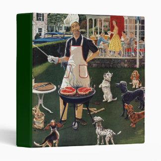 Hot Dogs Vinyl Binder