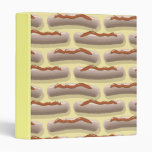 hot dogs with ketchup vinyl binder