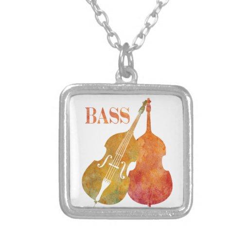 Hot Double Bass Square Pendant Necklace