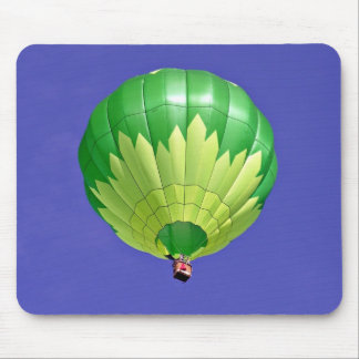 Hot dual tone air balloon in flight against blue s mouse pads