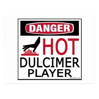 Hot Dulcimer Player Postcard