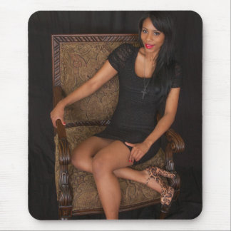 Hot Ebony Princess Mouse Pad