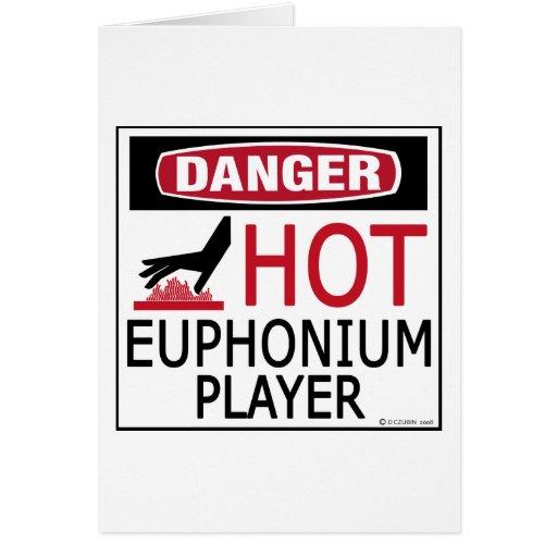 Hot Euphonium Player Greeting Card