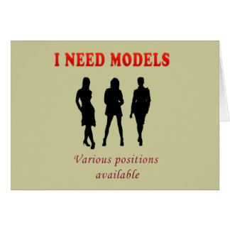 Hot fashion models greeting cards