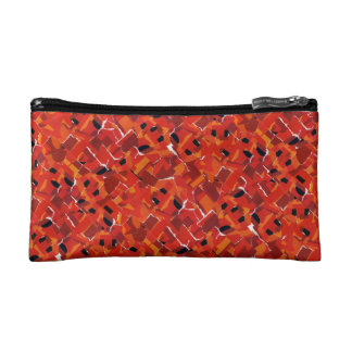 Hot Faux Mosaic Collage Cosmetic Bag