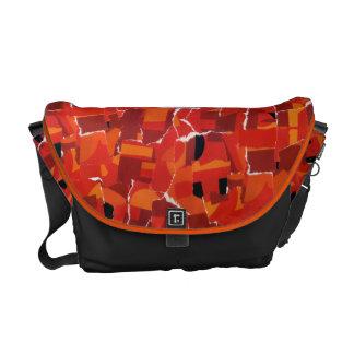 Hot Faux Mosaic Collage Messenger Bag