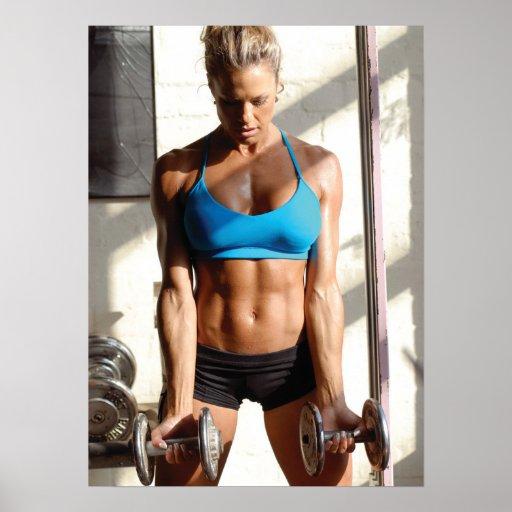 Hot Female Fitness Girls - Gym Poster