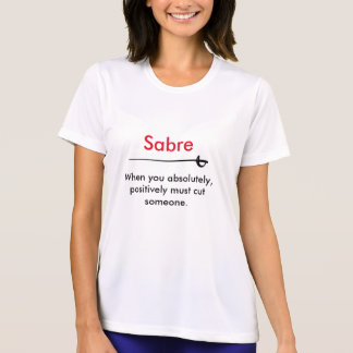 Hot Fencer Of The Day - Sabre Tee Shirts