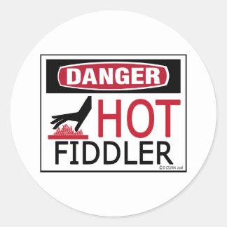 Hot Fiddler Round Sticker