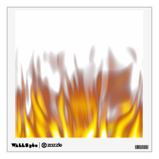 Hot Fiery Burning Flames Wall Decal