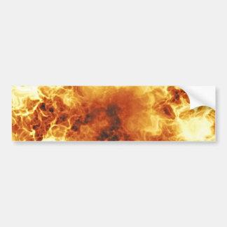 Hot Fiery Exploding Flames Bumper Sticker