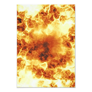 Hot Fiery Exploding Flames 3.5x5 Paper Invitation Card