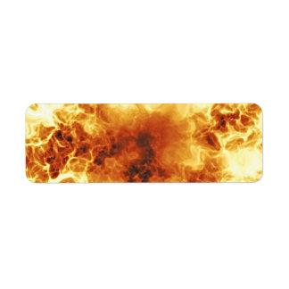 Hot Fiery Exploding Flames Return Address Label