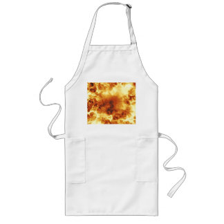 Hot Fiery Exploding Flames Long Apron