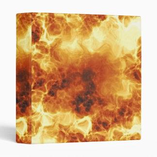 Hot Fiery Exploding Flames Vinyl Binder