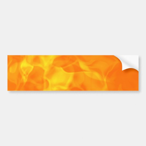 Hot Fiery Flames Background Bumper Sticker