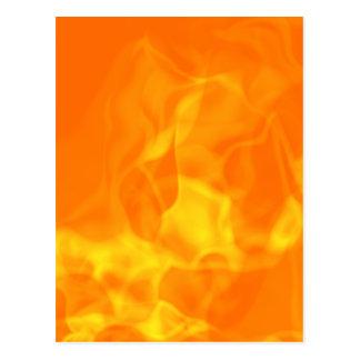 Hot Fiery Flames Background Postcard