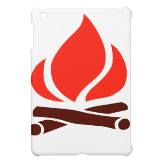 hot fire in fireplace iPad mini cases
