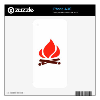 hot fire in fireplace skin for iPhone 4