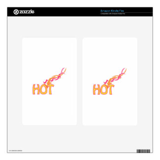 Hot Fire Kindle Fire Decals