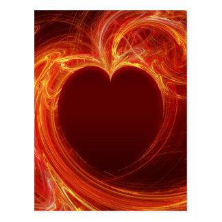 Hot Fire Love - vertical Postcard