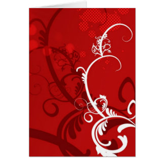 HOT FIRE RED DANCING CLUB PARTY WOMAN GIRL BABE WH CARD
