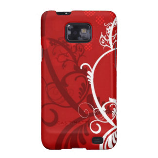 HOT FIRE RED DANCING CLUB PARTY WOMAN GIRL BABE WH SAMSUNG GALAXY SII COVER