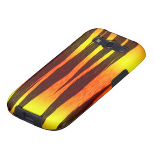 hot fire tiger stripes galaxy s3 covers