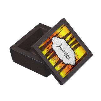 hot fire tiger stripes keepsake box