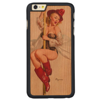 Hot Firefighter Pinup Girl Carved® Cherry iPhone 6 Plus Slim Case