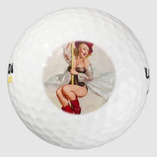 Hot Firefighter Pinup Girl Golf Balls