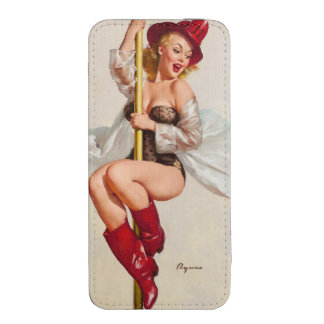 Hot Firefighter Pinup Girl iPhone 5 Pouch