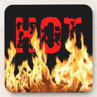 Hot Flames Beverage Coaster
