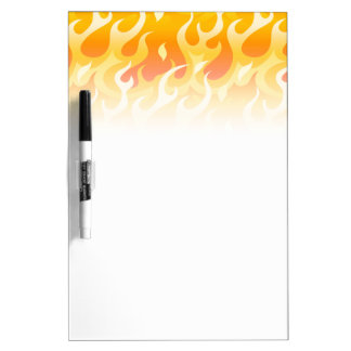 Hot flames dry erase board