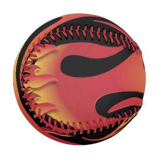 Hot Flames On Fire Baseball