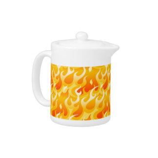 Hot flames teapot