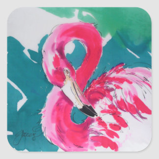 Hot Flamingo Pink Sticker