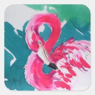 Hot Flamingo Pink Sticker
