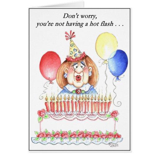 Hot Flash Birthday Card