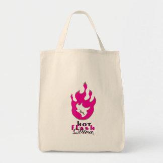 Hot Flash Diva Flame Logo for Light Bkg Tote Bag