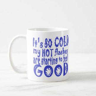 Hot flash humor classic white coffee mug