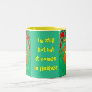 hot flashes Two-Tone coffee mug