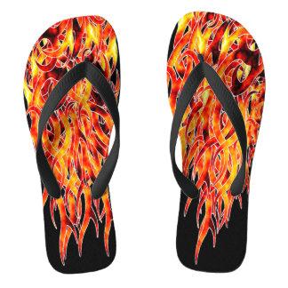 """Hot Foot"" Flame Design Flip Flops"