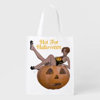 Hot For Halloween Grocery Bags